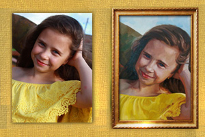 портрет по фото маслом