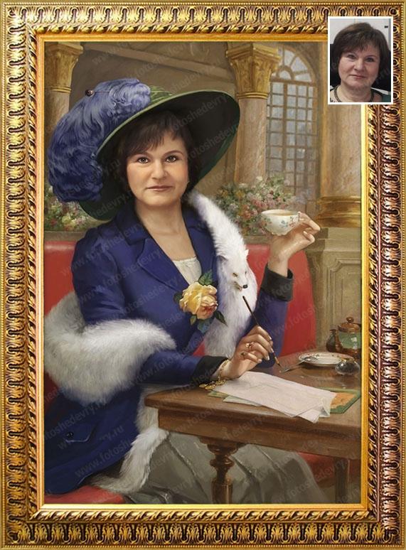 фото сюжетных портретов маслом всего