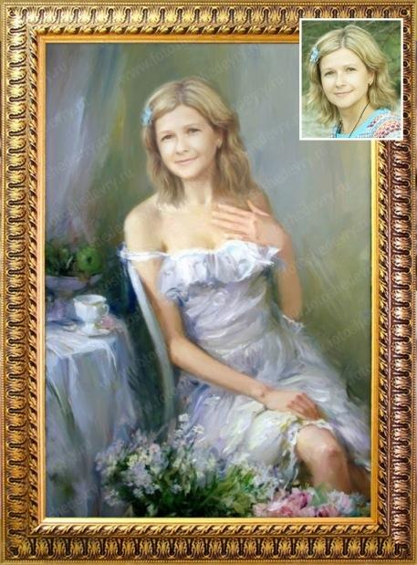 сообщает фото сюжетных портретов маслом супруги